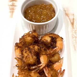 Coconut Shrimp with Orange Marmalade Dipping Sauce.