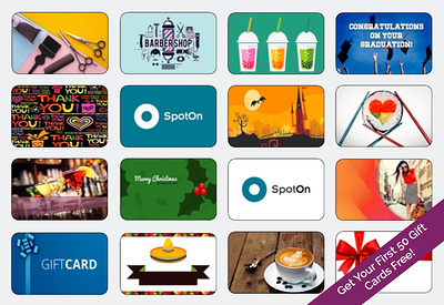 Customized Gift Cards for your business from SpotOn