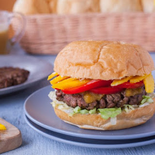 Jamaican Burger Recipe with Spicy Pineapple Sauce.