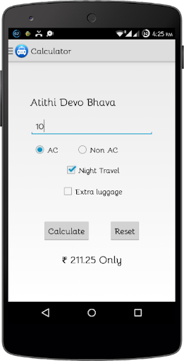 Delhi Taxi Fare Calculator