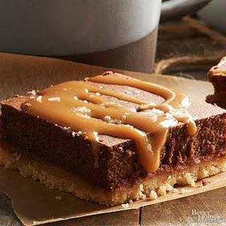 Salted Caramel Truffle Cheesecake Bars.
