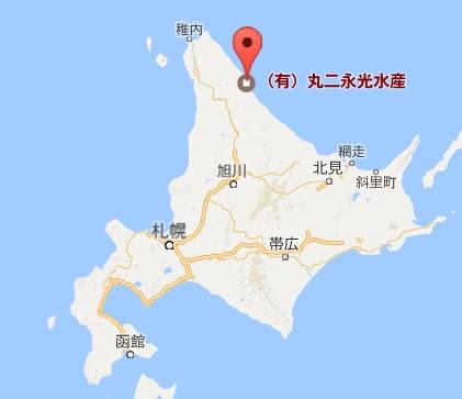 地図:(有)丸二永光水産