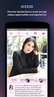 Sandra Dewi Official App - náhled