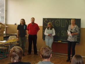 Photo: Školní kolo recitační soutěže - vyhlašování výsledků.