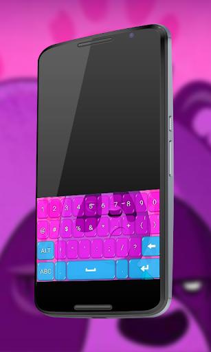 粉红色的熊猫键盘
