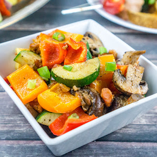 Bacon Roasted Vegetables Side Dish.