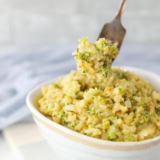Keto Cheesy Broccoli & Cauliflower Rice – Low Carb.