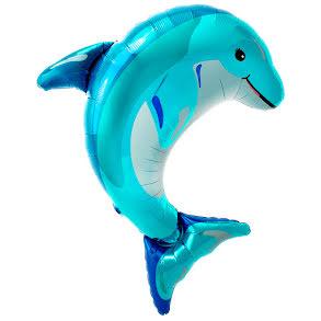 Folieballong, Delfin