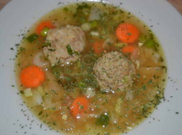 Asian Inspired Pork-upine Meatball Soup Recipe