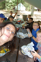 Photo: Photobombing was a skill practiced by many; this was the camp provided, in-camp Scout assembled lunch