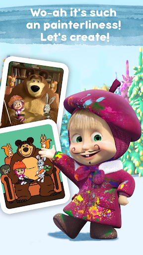 Masha and the Bear: Free Coloring Pages for Kids 1.0.3 screenshots 5