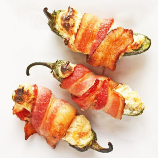 Bacon Wrapped Low Carb Jalapeno Poppers.