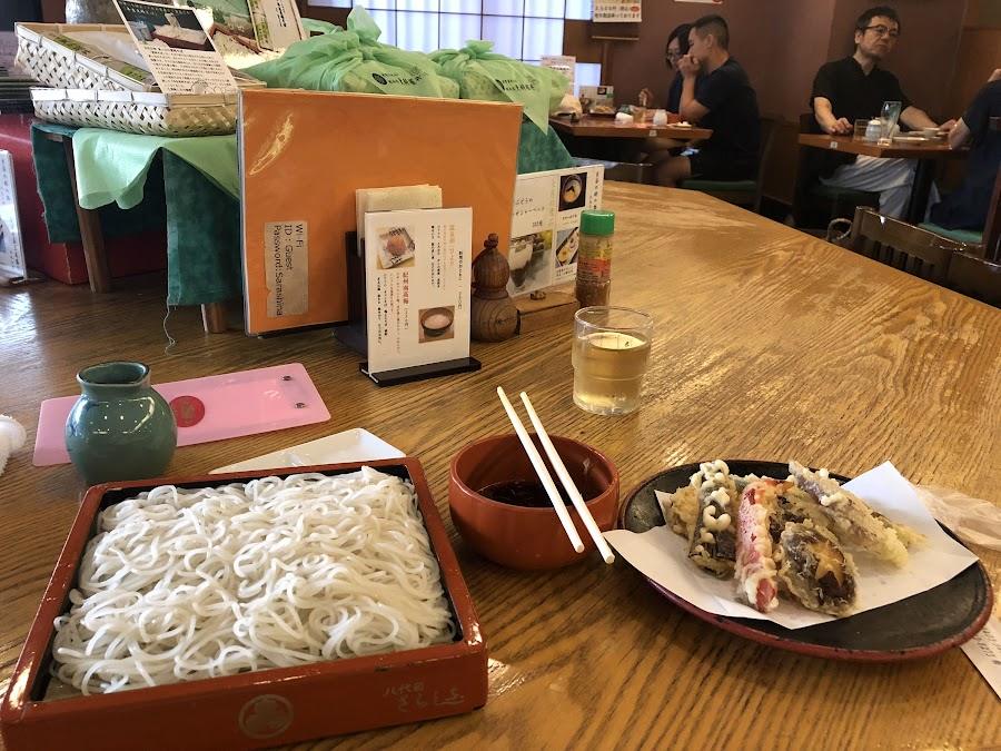 A super traditional soba noodle meal