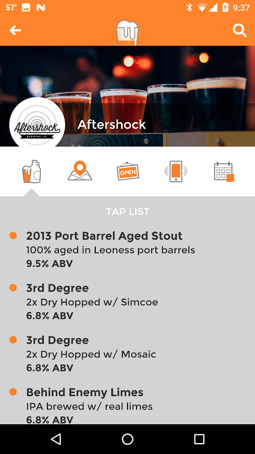 OpenTap - Local Beer Finder- screenshot