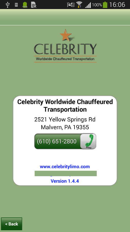 Celebrity Limousine Booking- screenshot