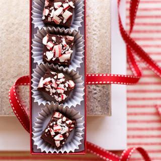 Candy Cane Chocolate Fudge.