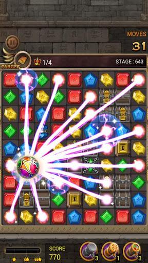 Jewels Temple Quest : Match 3 1.6.9 APK MOD screenshots 2