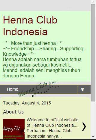 Henna Club Indonesia - Online