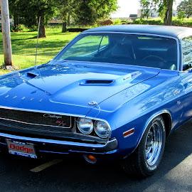 Challenger R/T by Rick Covert - Transportation Automobiles ( hot rod, dodge, blue, vintage, muscle, arkansas, arkansas photographer )