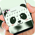 Cute Panda Face Keyboard Theme apk