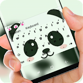 Cute Panda Face Keyboard Theme