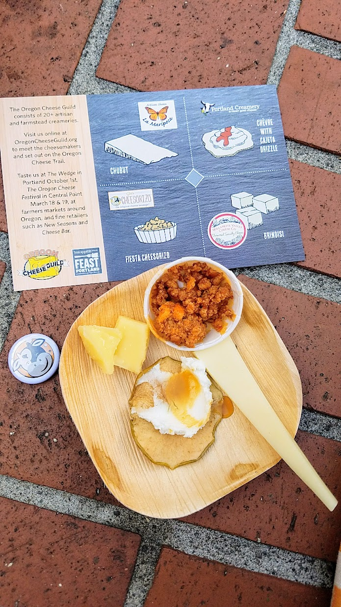Feast PDX 2016 Grand Tasting, Oregon Cheese Board plate