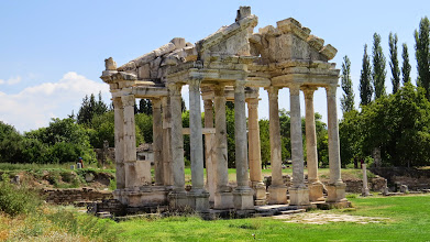 Photo: This was the entrance to the temple of Aphrodite--who was of course the most important God at Aphrodisias