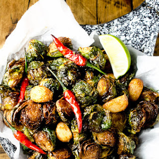 Coconut Oil Fried Brussels Sprouts