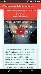 Vermont Abenaki Artists Association- screenshot thumbnail