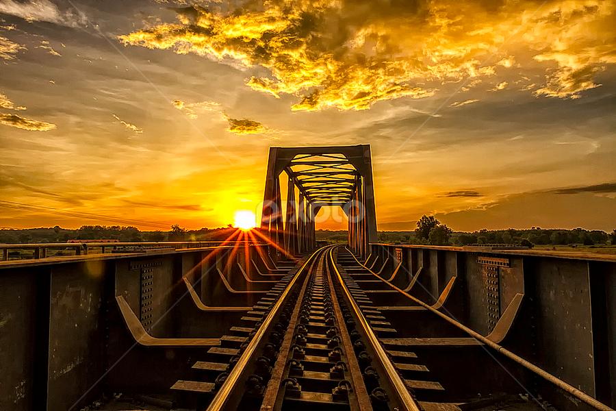 Golden Bridge by Mark Anthony Bansag - Buildings & Architecture Bridges & Suspended Structures ( moods, lighting, bridge, mood lighting )