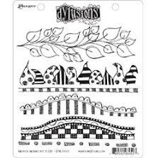 Dylusions Cling Stamps 8.5X7 - Further Around The Edge