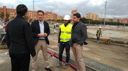 Obras de mejora en las vías que conecta la Vega de Acá con la Avenida del Mediterráneo