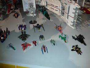 Photo: Micro spaceships beside the huge ones.