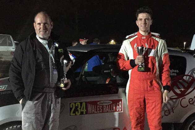 Teenager thrills rally fans