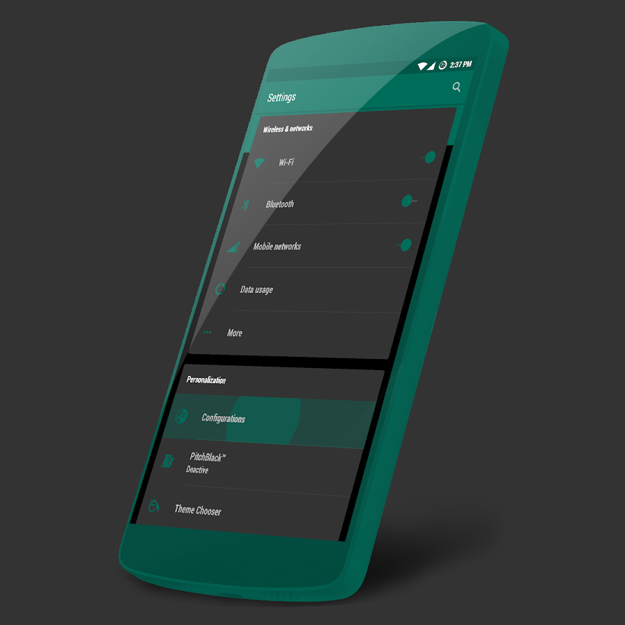 Teal Green Cm13 12 1 Theme Android Apps On Google Play