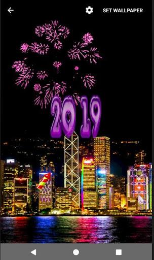 4D Happy New Year 2019 Live Wallpaper 1.0 screenshots 13