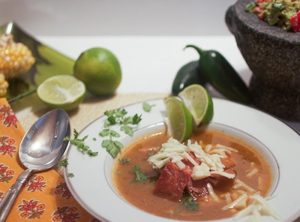 Classic Tortilla Soup With All The Trimmings Recipe
