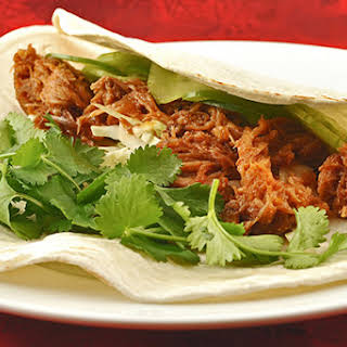 Pulled Pork Tacos with Korean Flavors.