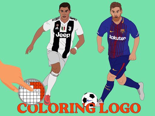 Coloring LOGO Football screenshot 3