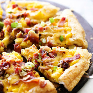 Puff Pasty Breakfast Pizza