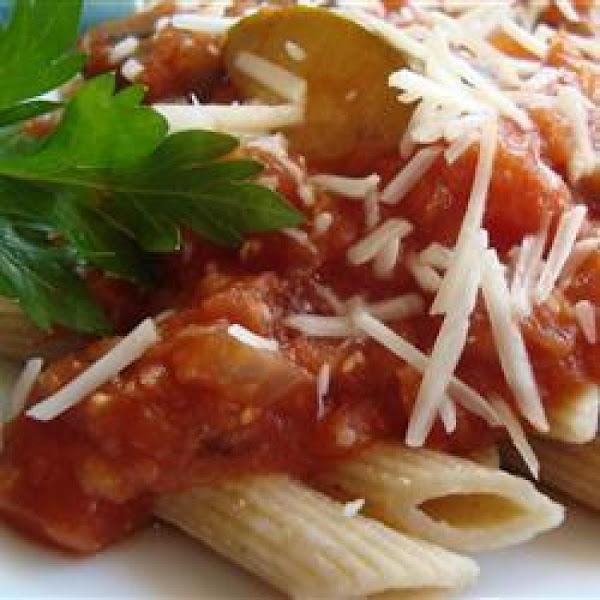 Lentil Spaghetti With Zucchini Recipe