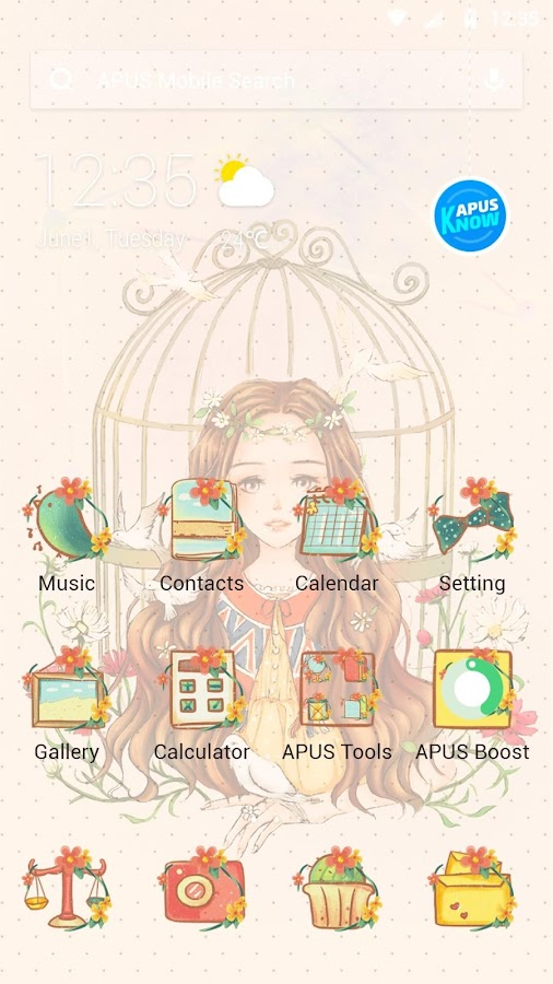 Sad girl-stylish theme- screenshot