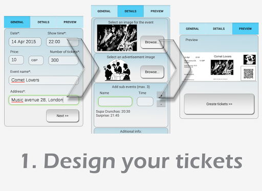 Ticket creator and scanner Pro