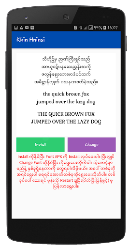 Myanmar Font Styles For SAMSUNG 1.1 screenshots 8