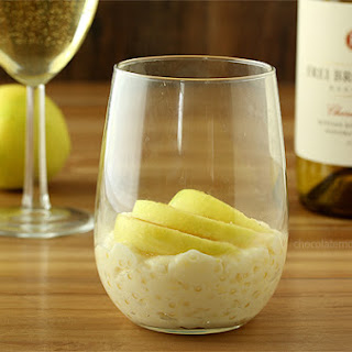 Tapioca Pudding with Fresh Apple Slices