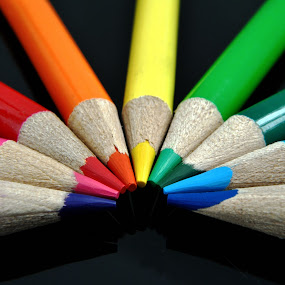 Colored Pencils by Anika McFarland - Artistic Objects Education Objects ( colorful, color, rainbow colored pencils, colorful pencils, colored pencils,  )
