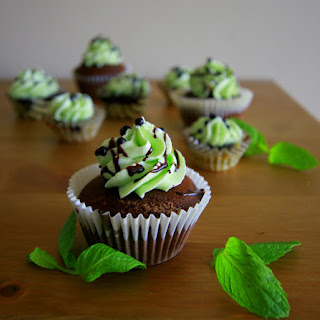 Mint Chocolate Cupcakes [100th Post!!]