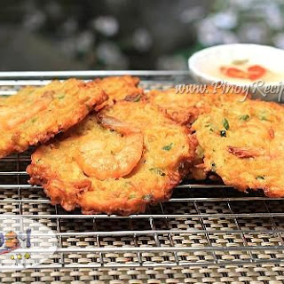 Ukoy Recipe or Okoy, a Filipino style Shrimp Fritters.