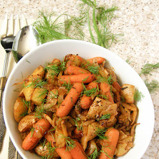Oven Roasted Fennel, Potatoes, Carrots and Onions