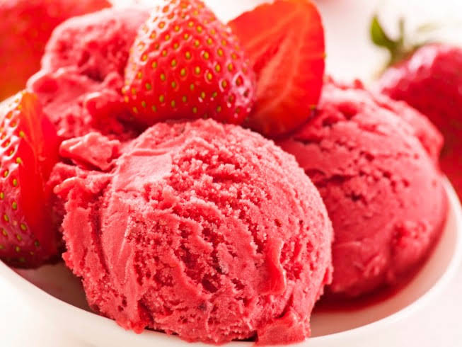 Diabetic Fresh Strawberry Sherbet